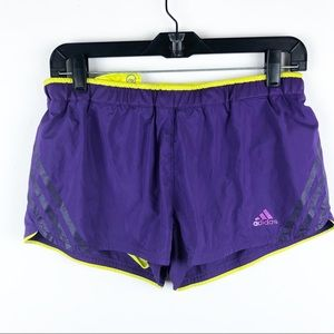 Adidas Purple & Yellow Supernova Running Shorts